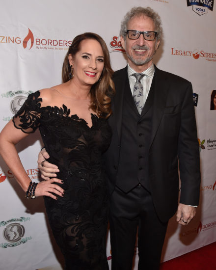 SANTA MONICA, CA - MARCH 24, 2017: Host Lisa Haisha and writer/producer Lee Aronsohn attend the 3rd Annual Whispers From Children's Heats Foundation Legacy Charity Gala. (Photo by Alberto E. Rodriguez/Getty Images)